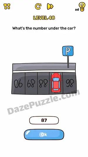 Kunci Jawaban Brain Out Level 48 : kunci, jawaban, brain, level, Brain, Level, What's, Number, Under, Answer, Puzzle