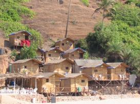 Beach Huts in Arambol Beach