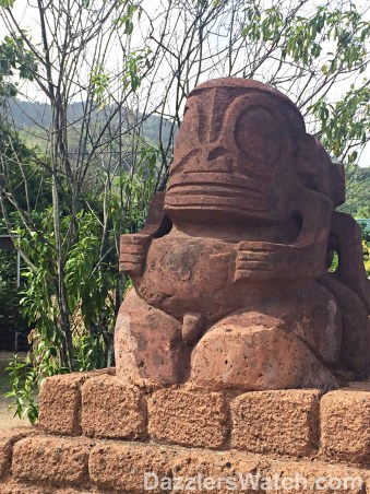 A tiki in the village of Atuona.