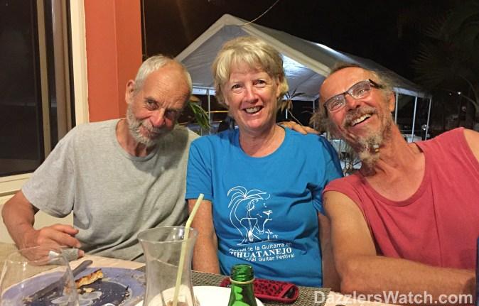 Ian & Helen of SV Nightide with Ernie of SV Patience