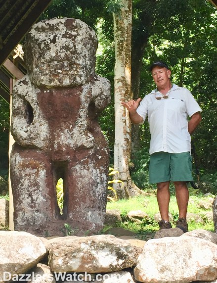 The largest Tiki in all of French Polynesia.