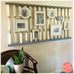 Use Staircase Banister to Display Photos on Gallery Wall