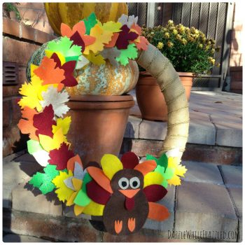 Thanksgiving Turkey Door Wreath | DazzleWhileFrazzled.com