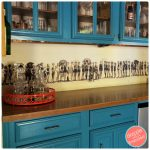 Love Vintage Images? Use Them For a Fun Bar Backsplash