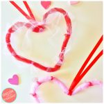 $5 DIY Valentine's Day Mesh Heart Door Wreaths