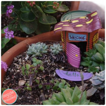 DIY Tin Can Fairy Garden House | DazzleWhileFrazzled.com
