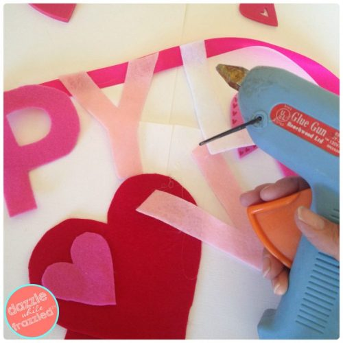 DIY Valentine's Day Happy Love Day Banner | DazzleWhileFrazzled.com