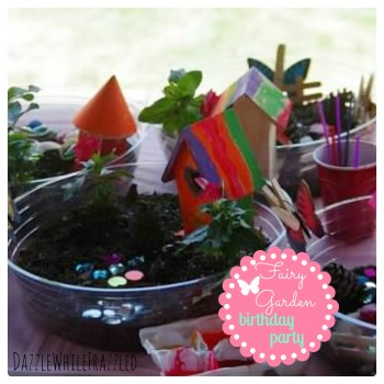 Create a fairy garden themed birthday party | DazzleWhileFrazzled.com