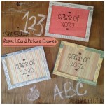 Repurpose report cards into picture frames