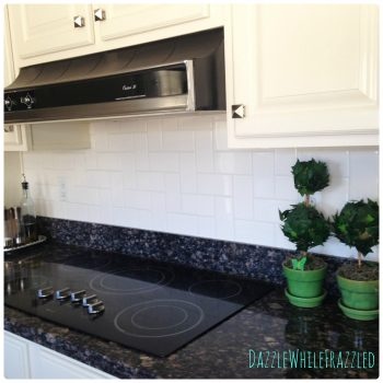 How to create your own stair step subway tile pattern | DazzleWhileFrazzled.com