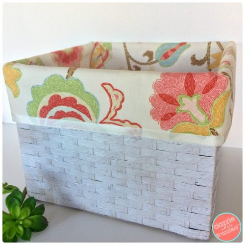 DIY No Sew Basket Cloth Liner | DazzleWhileFrazzled.com
