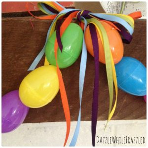 Make a plastic Easter egg garland