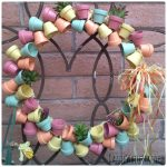 How to Make Stunning Spring Wreath with Mini Flower Pots