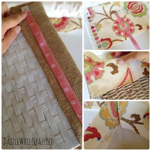 Make no sew custom fabric basket liners