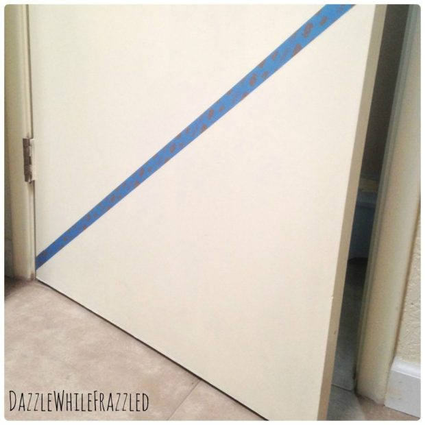 How to easily add a color block accent to a door