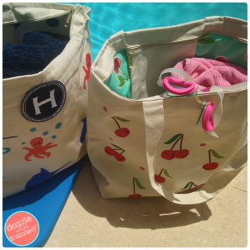 DIY Waterproof Swim Beach Bag | DazzleWhileFrazzled.com