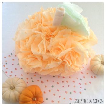 How to Make a $2 Coffee Filter Pumpkin   DazzleWhileFrazzled.com