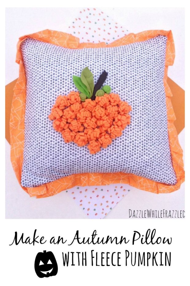 Make an autumn Halloween pumpkin pillow cover | DazzleWhileFrazzled.com