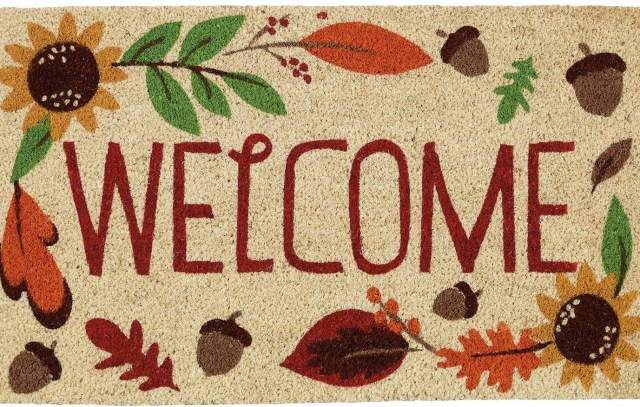 Fall doormat welcome mat for autumn, Halloween, Thanksgiving
