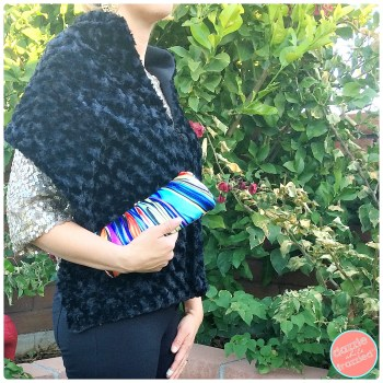 Easy sew faux fur wrap tutorial for cool and dressy nights.