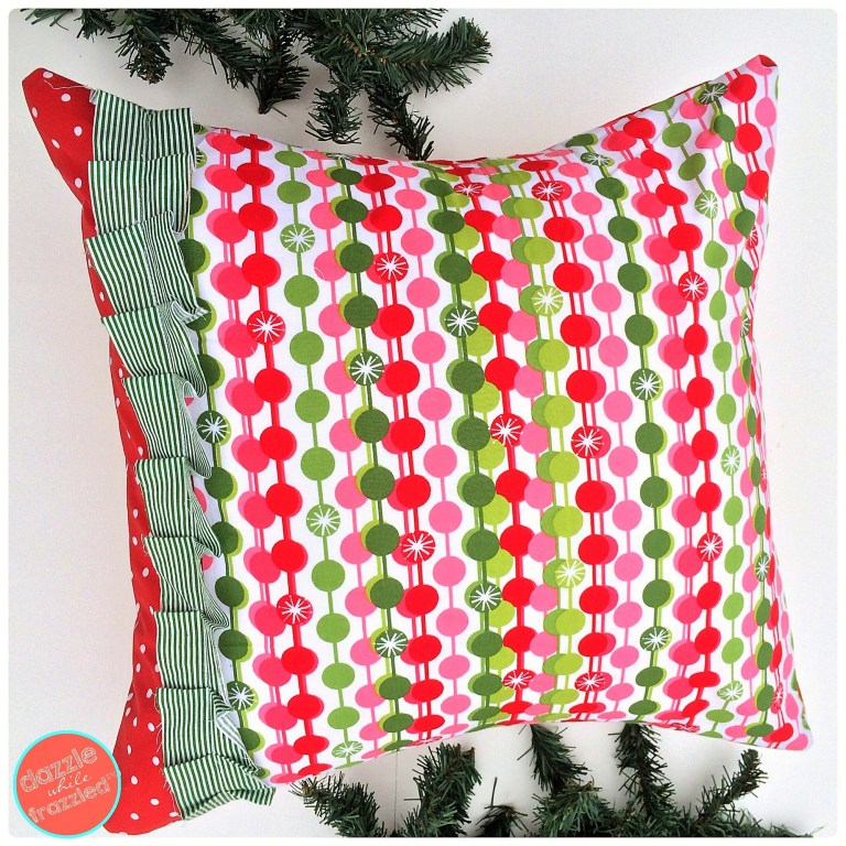 DIY Modern Christmas Pillow Cover | DazzleWhileFrazzled.com