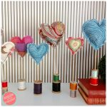 How to Make Easy Valentine Fabric Hearts from Remnants