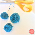 DIY: How to Make Rolled Fabric Flowers From Fabric Remnants