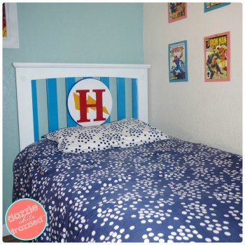 Easy and fun DIY Superhero Boys Bed