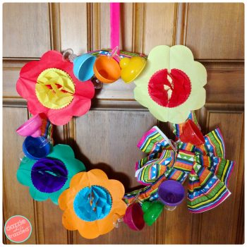 DIY Margarita Day Cinco de Mayo Fiesta Wreath | DazzleWhileFrazzled.com