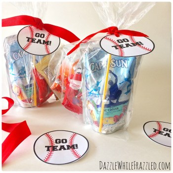 Baseball Tags Kids Game Day Snacks | DazzleWhileFrazzled.com