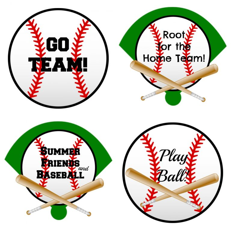 graphic relating to Baseball Printable named How in the direction of Crank out Printable Tags for Baseball Snack Luggage -