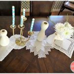 DIY Vintage Linens No Sew 10 Minute Table Runner