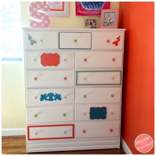 How to make a thrifty Ethan Allen girls bedroom dresser knock off for $20   DazzleWhileFrazzled