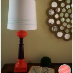 DIY Modern Table Lamps with Paint and Twine