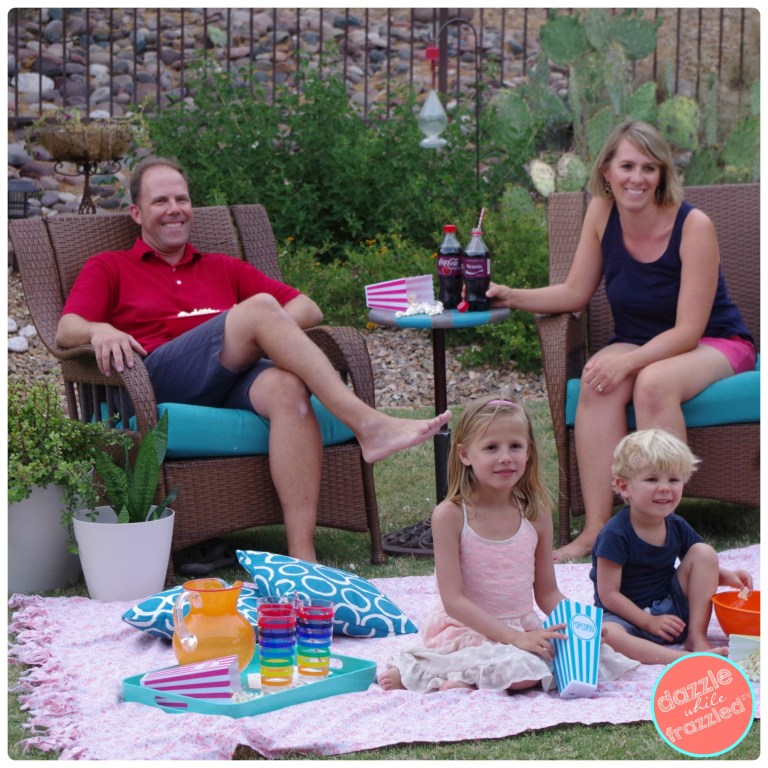 How to make an outdoor movie or picnic blanket from a $5 bedsheet | Dazzle While Frazzled.com