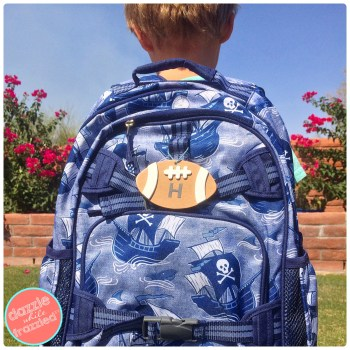 DIY backpack personalized tag for back-to-school | DazzleWhileFrazzled.com