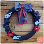 How to Make Cute Nautical Wreath from Old Jeans