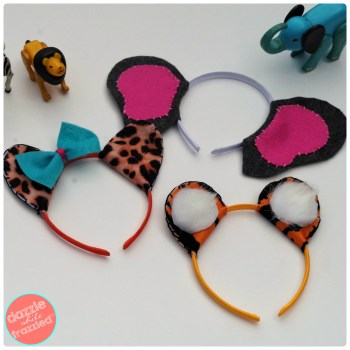 How to make animal-themed headbands using craft felt | DazzleWhileFrazzled.com