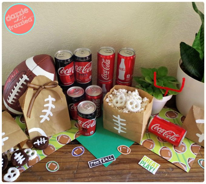 Host a DIY football season tailgate party at home with Coca-Cola and COKE REAL SUGAR | DazzleWhileFrazzled.com