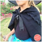 How to Make Easy Halloween Black Witch Cape from T-Shirt