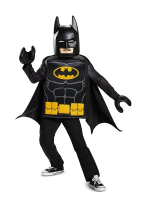 Kids Batman LEGO Halloween costume on Amazon and Etsy.