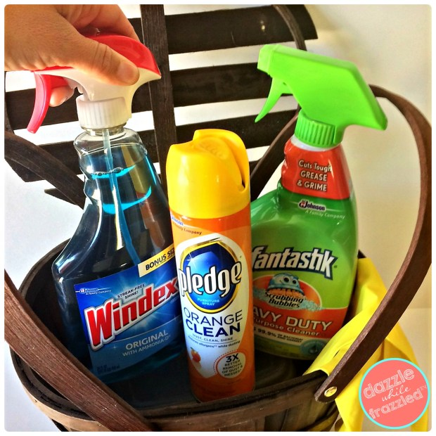 Holiday cleaning products hostess gift basket | DazzleWhileFrazzled.com