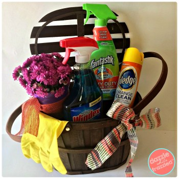 Add a plant to a DIY hostess thank you gift basket | DazzleWhileFrazzled.com