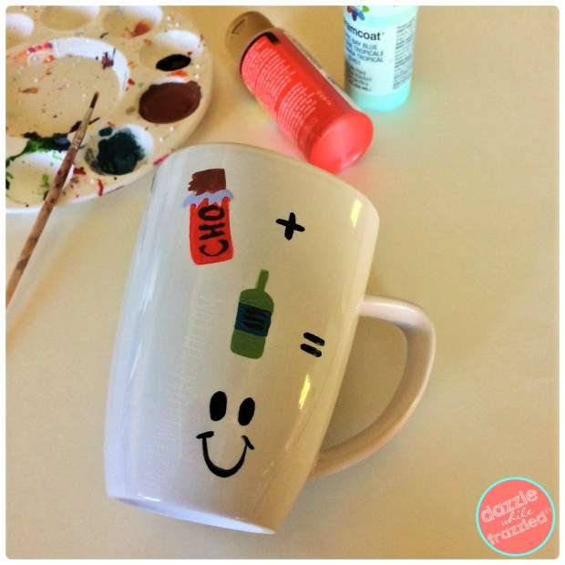 Make a handpainted DIY adult only hot chocolate mug