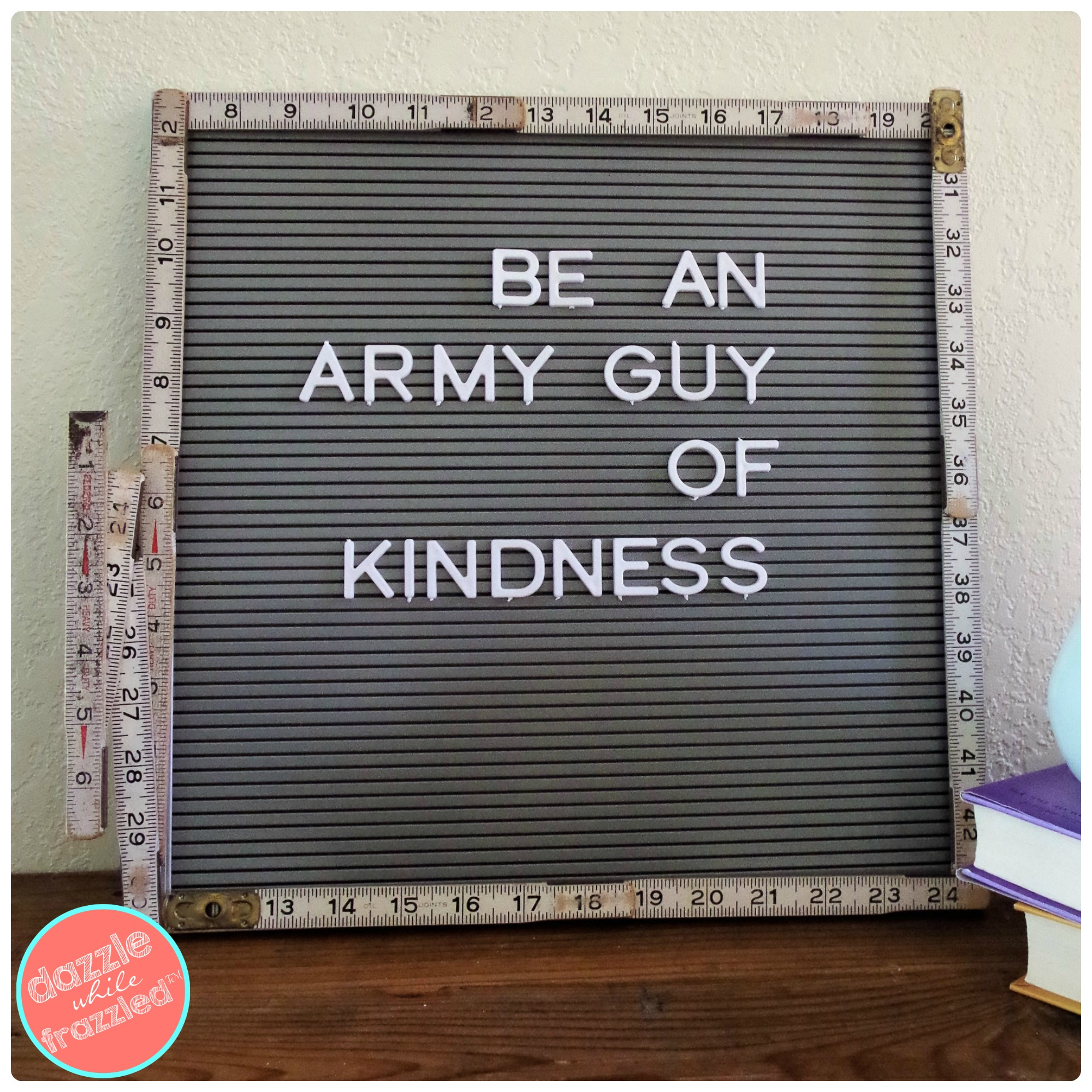 How To Make Vintage Letter Board For Home Decor Dazzle While Frazzled