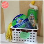 Get Clean Toilets with DIY Cleaning Caddy