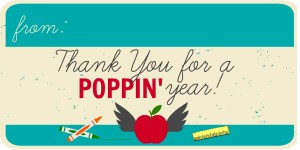 Thank You For a Poppin Year. Popcorn bag teacher appreciation gift.