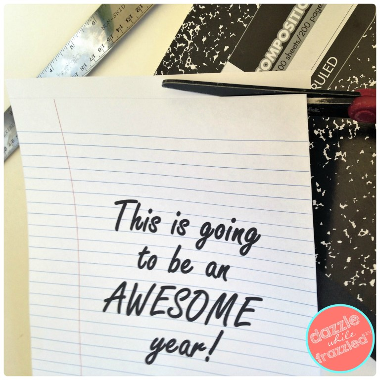 """Download and print free printable """"This Is Going To Be An Awesome Year"""" notebook cover for back to school."""