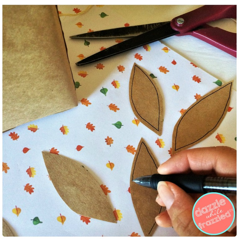 How to make paper leaves for DIY autumn home decorating.