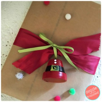 Jazz up a wrapped present with mini clay flower pot gift tag or Christmas tree ornament.